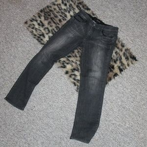 Black Jeans with floral and metal beading